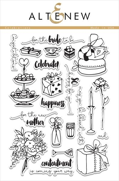 Altenew clear stamp set - Celebrations