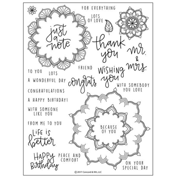 Concord & 9th - Stamp set - Many Mandalas