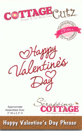 CottageCutz - Happy Valentine's Day Phrase
