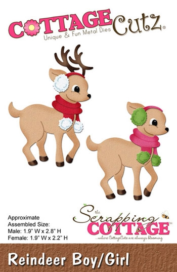 Happymade - CottageCutz Reindeer Boy/Girl - CC180