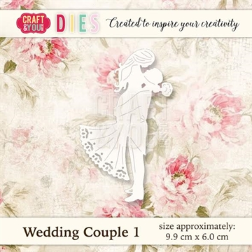 Craft & You Design - Die - Wedding Couple 1 (CW018)