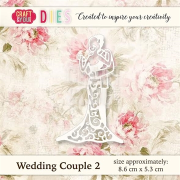 Craft & You Design - Die - Wedding Couple 2 (CW019)