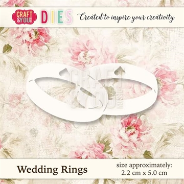 Craft & You Design - Die - Wedding Rings (CW020)