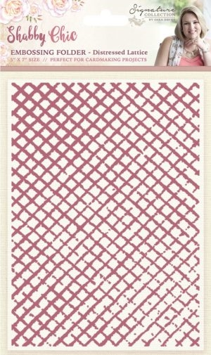 Crafter's Companion - Embossing folder - Distressed Lattice