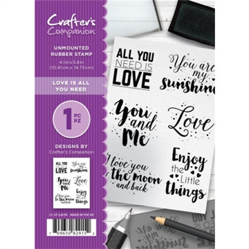 Crafter's Companion - Rubber stamp - All you need is love (CC-ST-LIYAN)