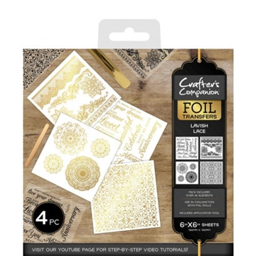 Crafter's Companion - Foil Transfers - Lavish Lace