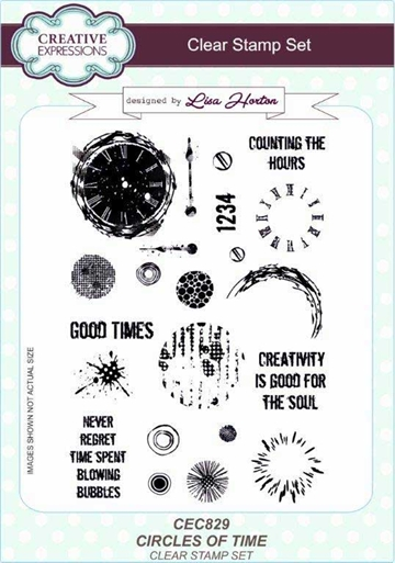 Creative Expressions - Clear stamp - Circles of Time