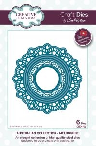 Creative Expressions - by Sue Wilson - Melbourne Doily (CED8105)