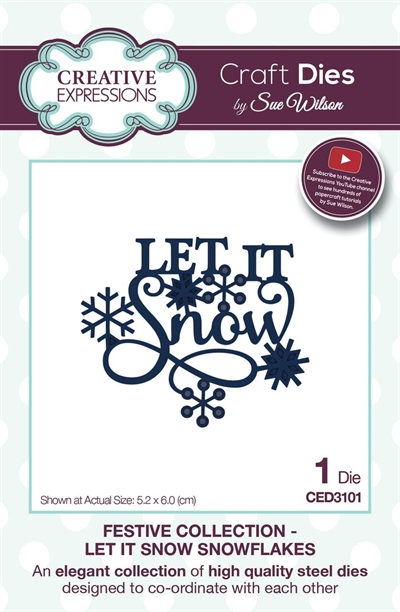Creative Expressions - by Sue Wilson - Festive collection - Let it snow (CED3101)