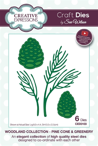 Creative Expressions - by Sue Wilson - Woodland collection - Pine cone & greenery (CED3103)
