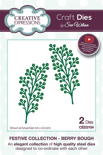 Creative Expressions - by Sue Wilson - Festive collection - Berry Bough (CED3104)