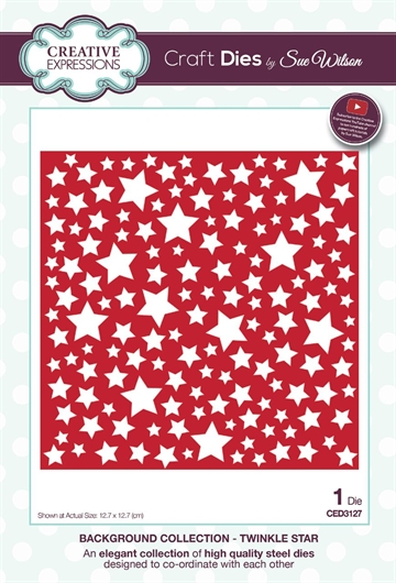 Creative Expressions - by Sue Wilson - Background collection - Twinkle star  (CED3127)