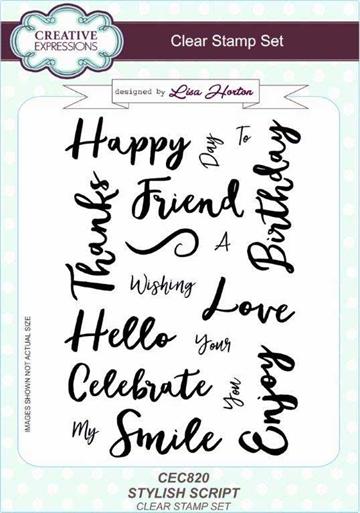 Creative Expressions - Clear stamp - Stylish Script