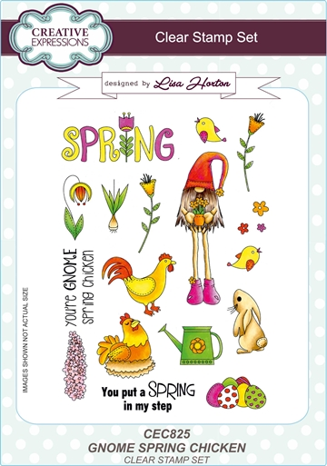 Creative Expressions - Clear stamp - Gnome Spring Chicken