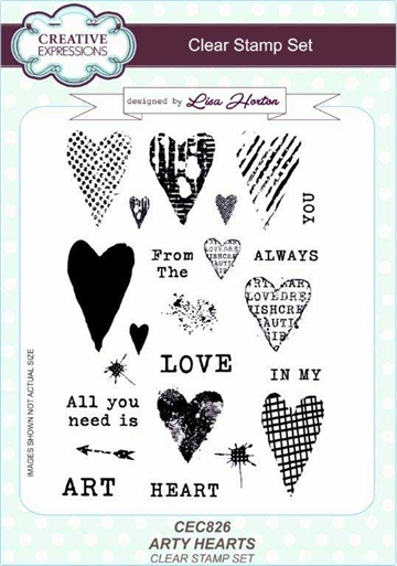 Creative Expressions - Clear stamp - Arty Heart