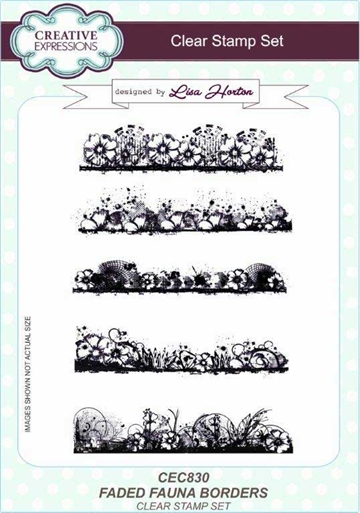 Creative Expressions - Clear stamp - Faded Fauna Borders