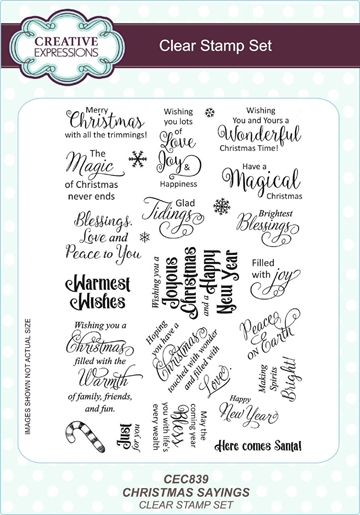 Creative Expressions - Clear stamp set - Christmas Sayings - CEC839