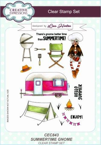Creative Expressions - Clear stamp - Summertime Gnome