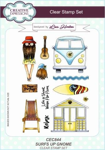 Creative Expressions - Clear stamp - Surf's Up Gnome