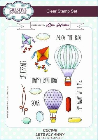 Creative Expressions - Clear stamp - Let's Fly Away