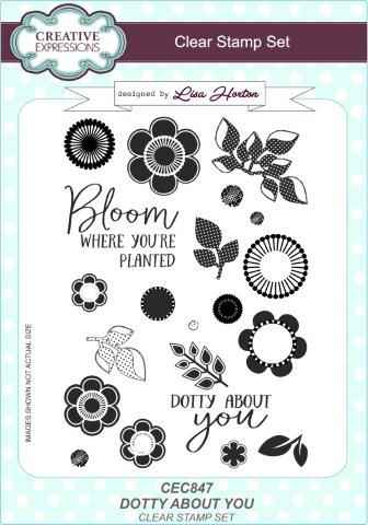 Creative Expressions - Clear stamp - Dotty About You