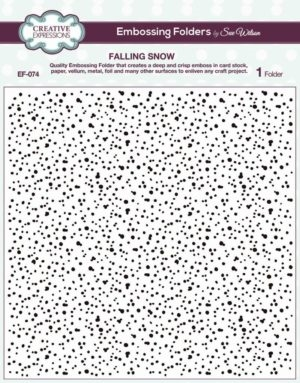 Creative Expressions embossing folder - Falling Snow