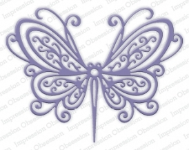 Impression Obsession Die - DIE253-U Open Scroll Butterfly