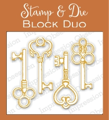 Impression Obsession Die and Stamp Set - DIE307-U Key Block
