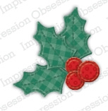 Impression Obsession Die - DIE484-C Patchwork Holly
