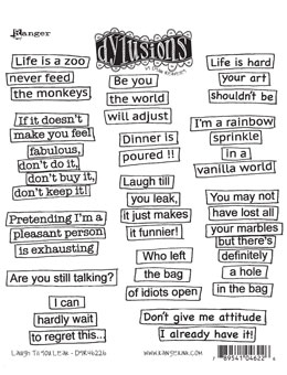 Dylusions Cling Rubber Stamp Set - Laugh til you leak