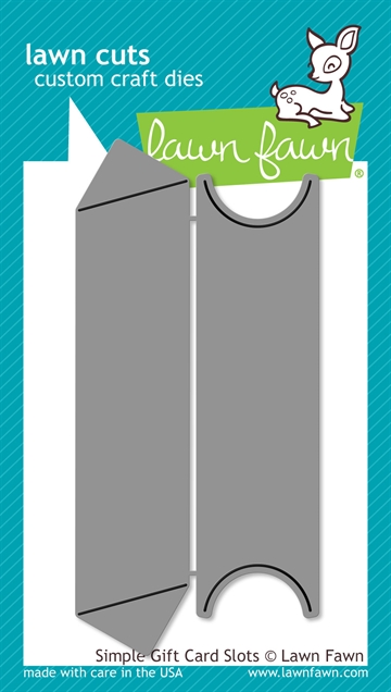 Lawn Fawn die set - Simple gift card slots