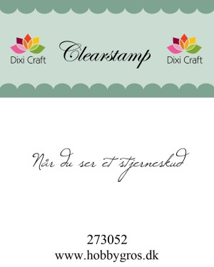 Dixi Craft clear stamp - 273052