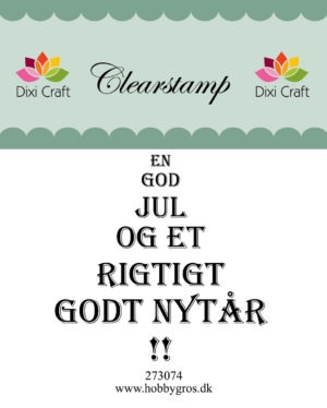 Dixi Craft clear stamp - 273074