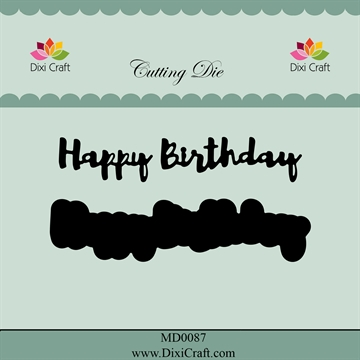 Dixi Craft - Die m/baggrund - Happy Birthday