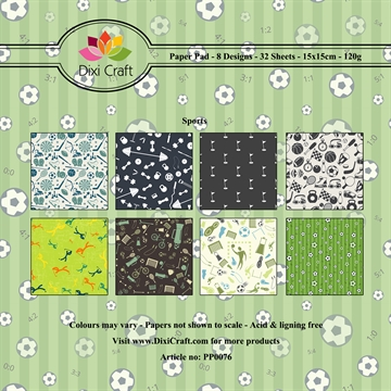 Dixi Craft - Paper pad - Sports background