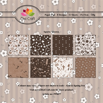 Dixi Craft - Paper pad - Sports background (Brun)
