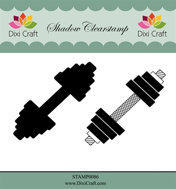 Dixi Craft - Clear stamp - Weightlifting/Fitness (STAMP0086)