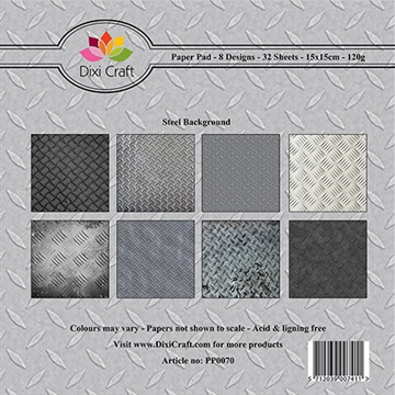 Dixi Craft - Paper pad - Steel background