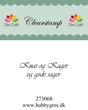 Dixi Craft clear stamp - 273068
