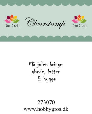 Dixi Craft clear stamp - 273070