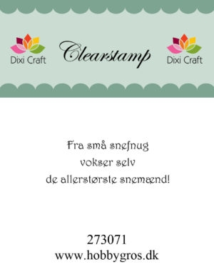 Dixi Craft clear stamp - 273071