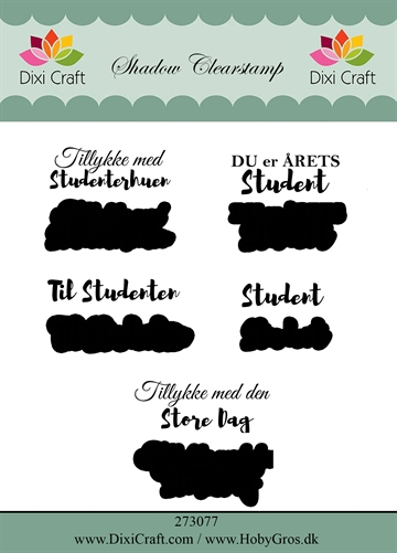Dixi Craft - Clear stamp - Studentertekster