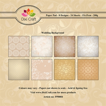 Dixi Craft - Paper pad - Wedding Background