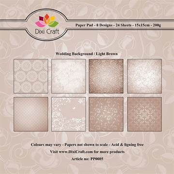 Dixi Craft - Paper pad - Wedding Background (light brown)