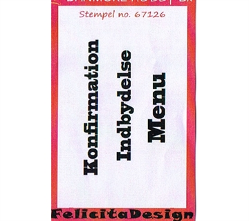 Felicita Design - Clear stamp - 67126