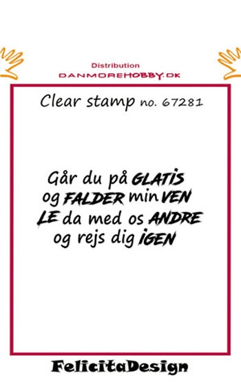 Felicita Design - Clear stamp - 67281
