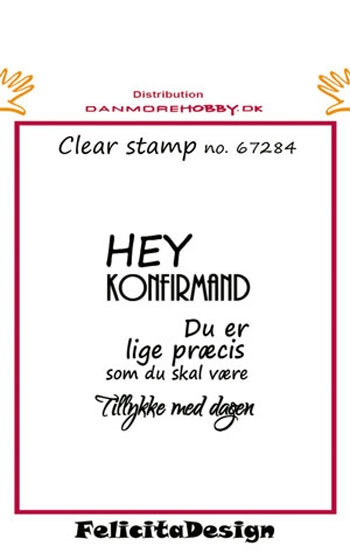 Felicita Design - Clear stamp - 67284