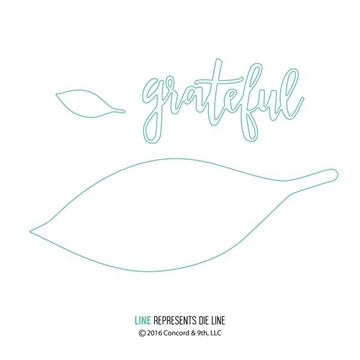 Concord & 9th die set - Grateful leaf
