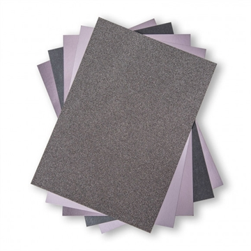 Happymade - Sizzix - Opulent Cardstock Pack - Charcoal (50 ark) - 664536