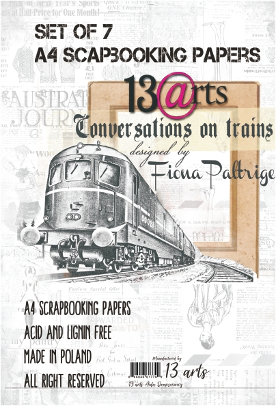 Happymade - 13arts - Design Papers - Conversations on a Train - A4 (pakn. m/7 ark)